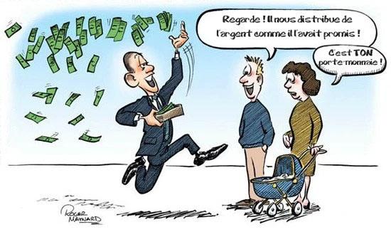 Regarde il distibue de l'argent